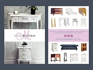 furniture flyer advert design