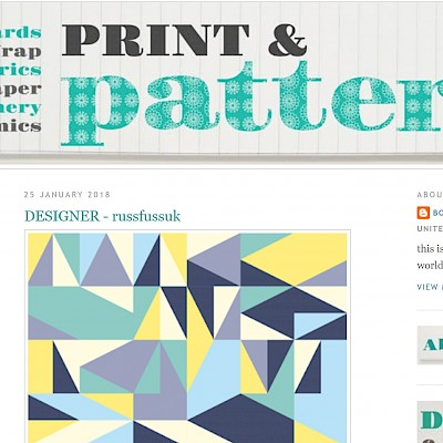 Featured on Print & Pattern Blog